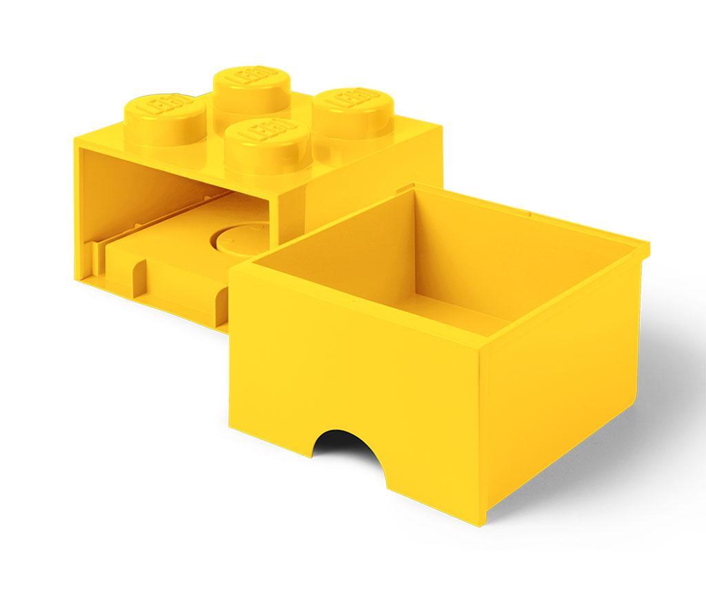 Lego Square One Yellow Tárolódoboz
