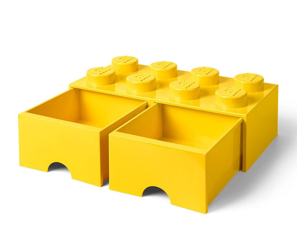 Cutie pentru depozitare Lego Square Duo Yellow