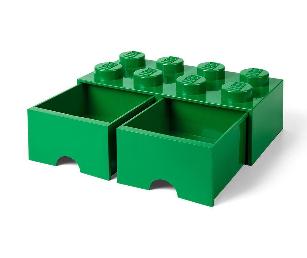 Kutija za pohranu Lego Square Duo Dark Green