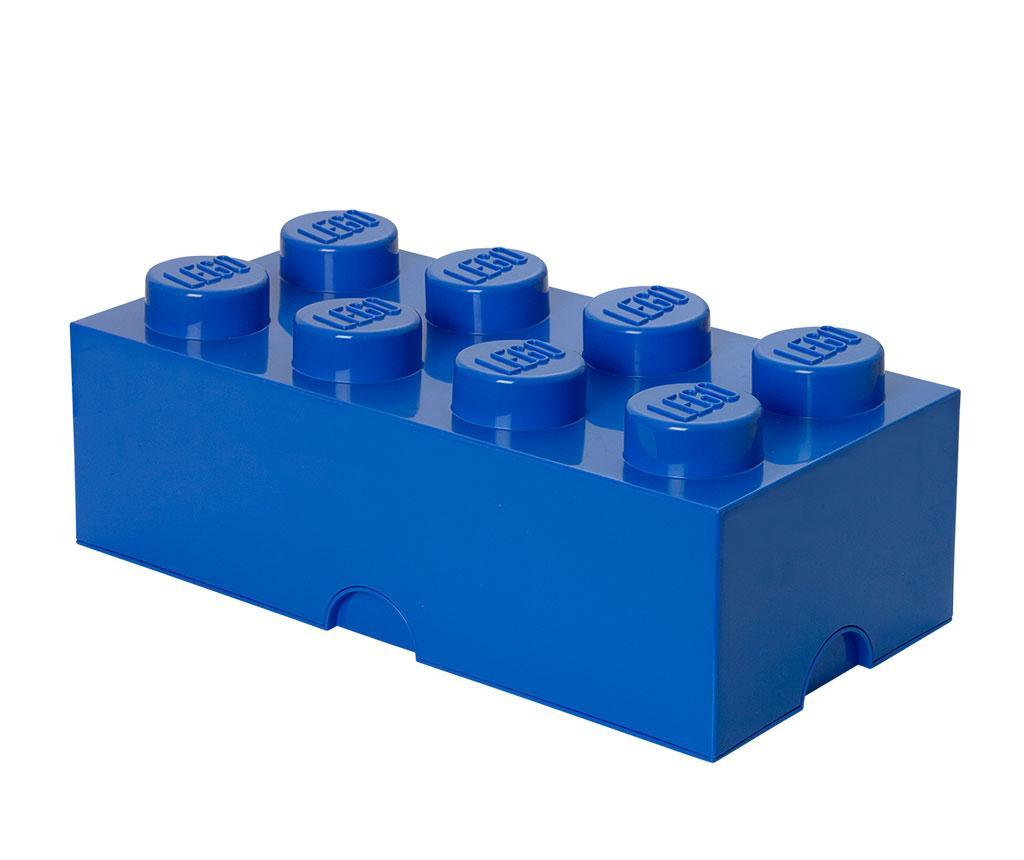 Kutija s poklopcem Lego Rectangular Extra Blue