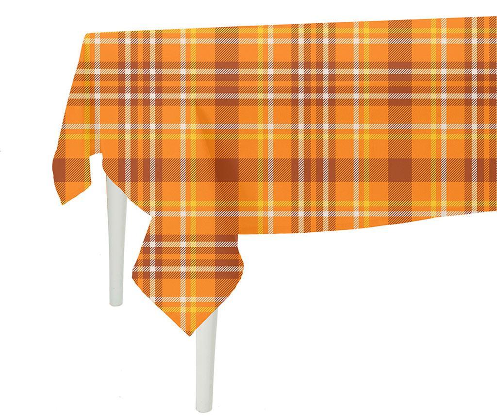 Fata de masa Orange Checks Plaid 140x140 cm