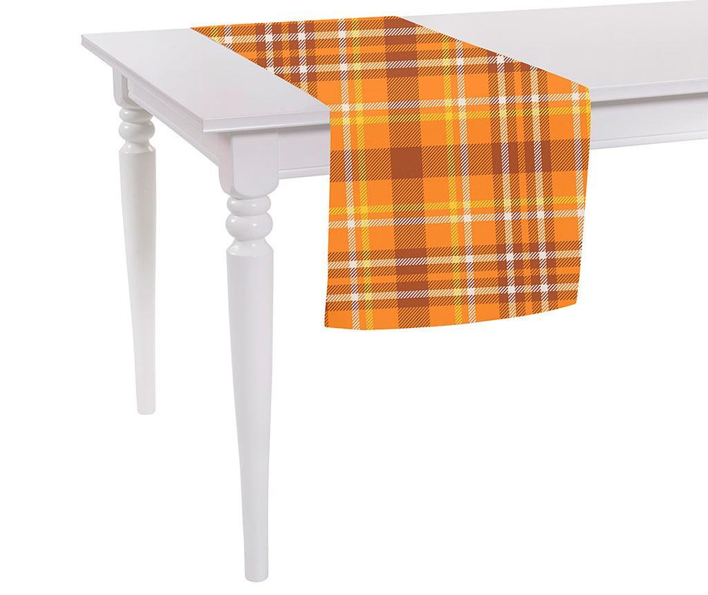 Bieżnik stołowy Orange Checks Plaid 40x140 cm