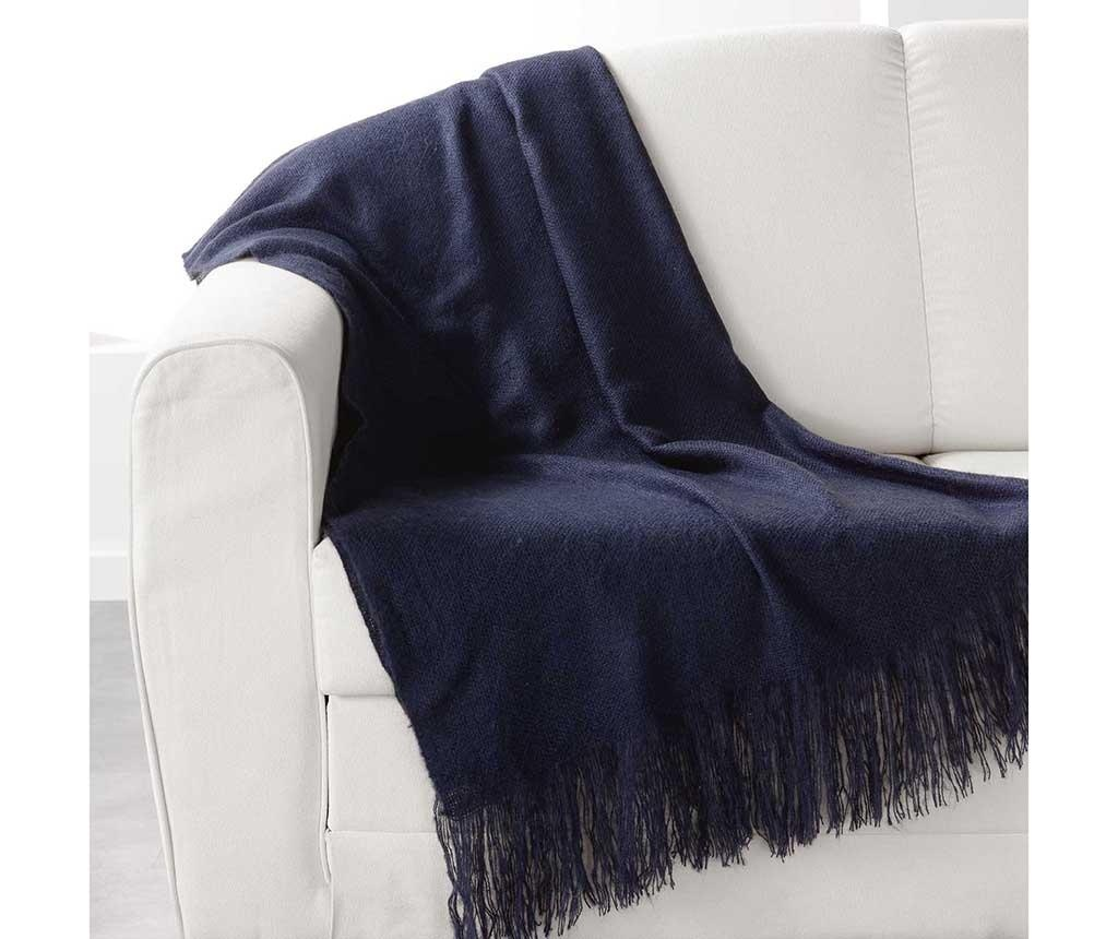 Priročna odeja Shelly Dark Blue 120x150 cm