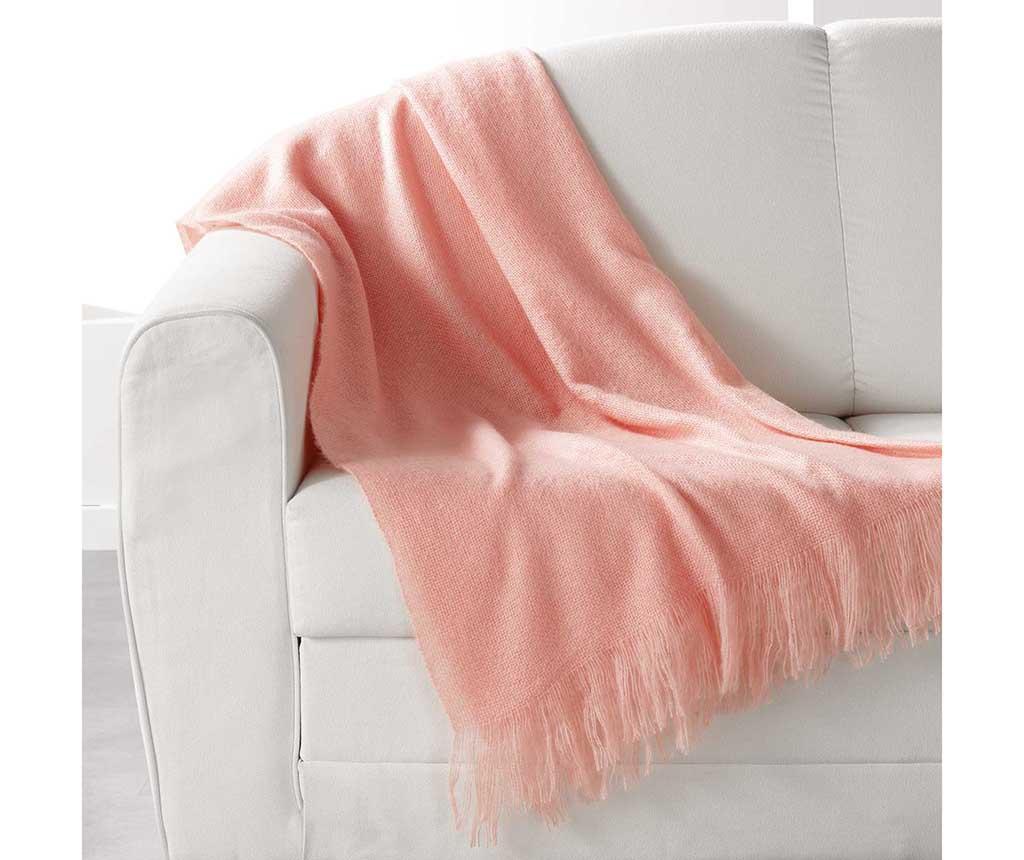 Priročna odeja Shelly Salmon 120x150 cm
