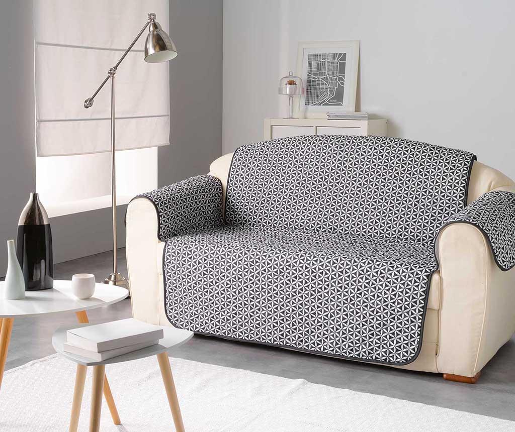 Prošivena navlaka za kauč Kiria Black 179x279 cm