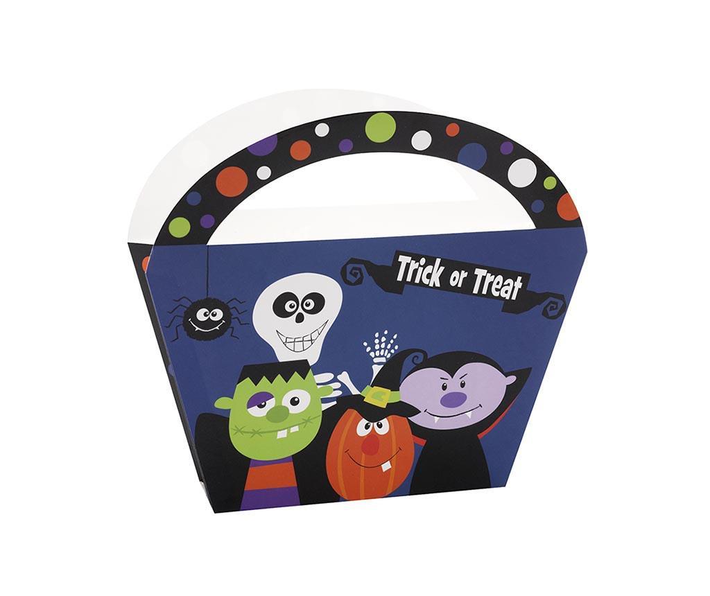 Set 4 košar za sladkarije Trick or Treat
