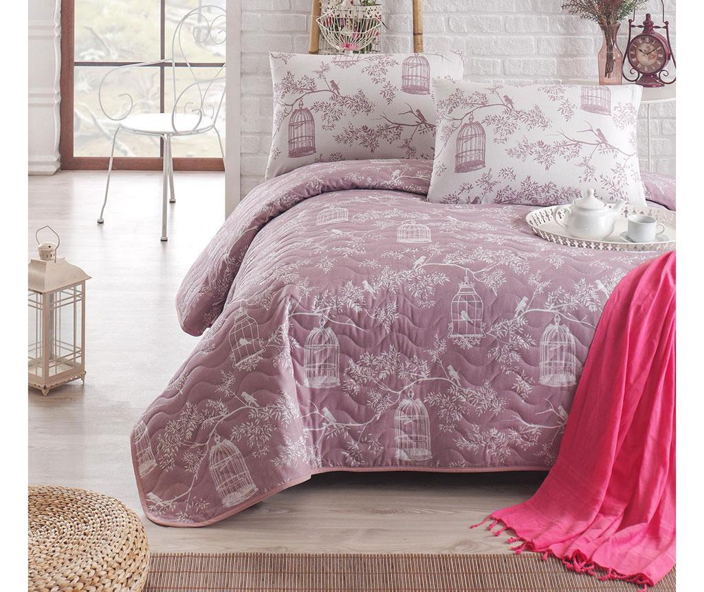 Set cuvertura matlasata Double Samyeli Lilac