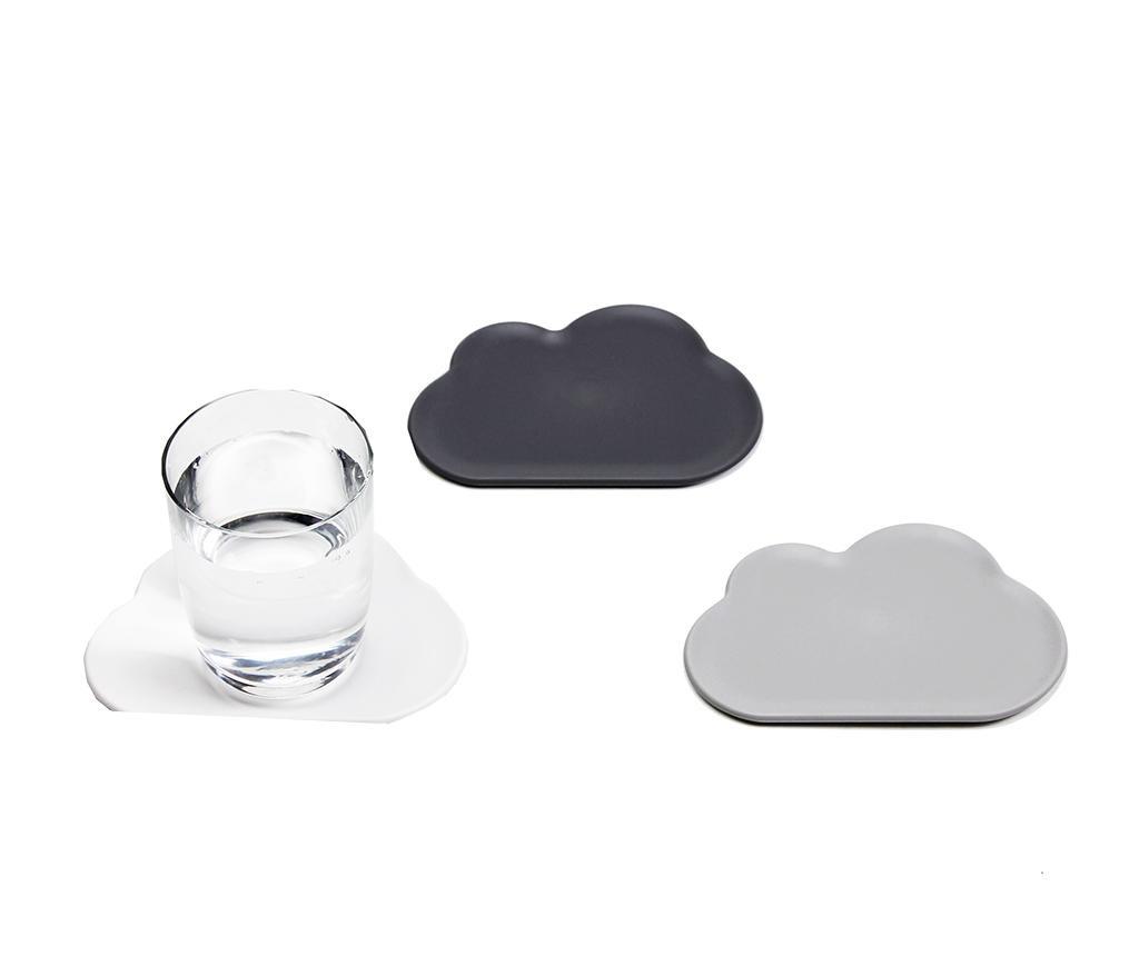 Light Cloud 6 db Poháralátét