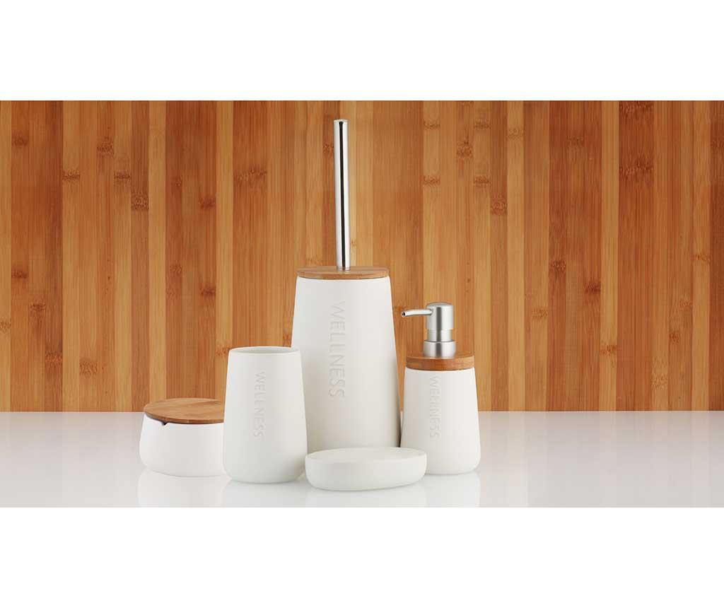 Szczotka toaletowa ze stojakiem Bastian White