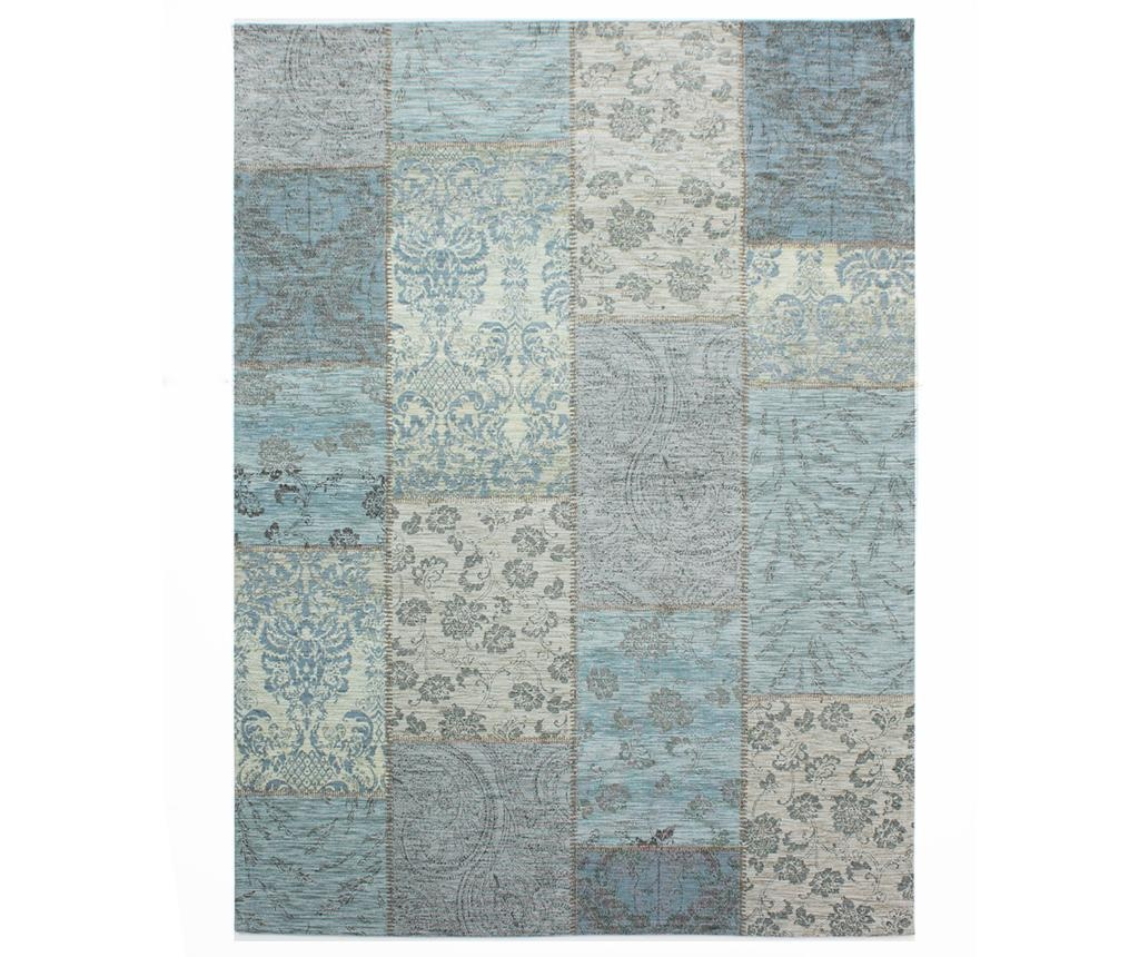 Covor Patchwork Chenille Duck Egg 155x230 cm