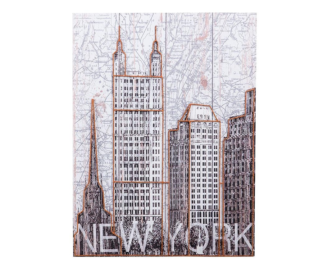 Obraz New York Map 60x80 cm