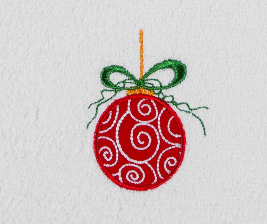 Prosop de baie Red Christmas Ball 30x50 cm