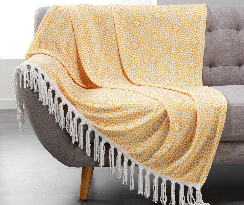 Pokrivač Tunis Yellow 125x150 cm