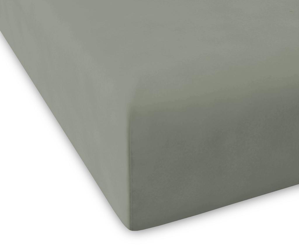 Cearsaf de pat cu elastic Percale Pure Green 180x200 cm