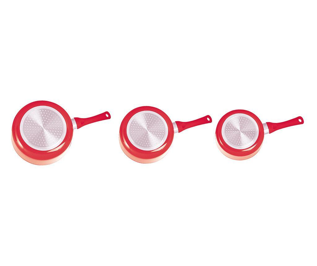 Set 3 cratite Bright Red