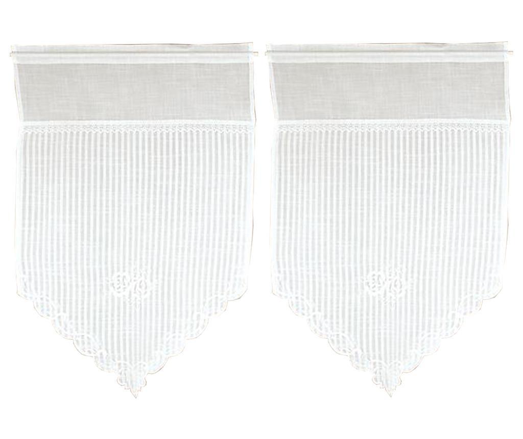 Set 2 zavjese White Roses 60x90 cm