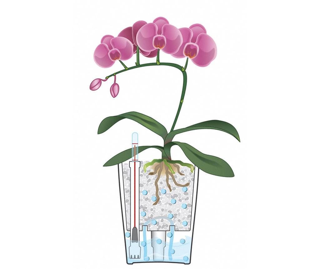 Set - cvetlični lonec z avto-namakalnim sistemom in držalo Deltini Table Taupe S