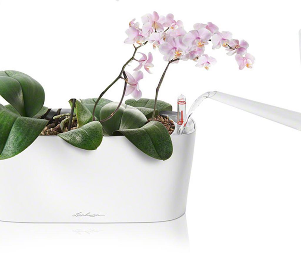 Set - cvetlični lonec z auto-namakalnim sistemom in držalo Delta White M
