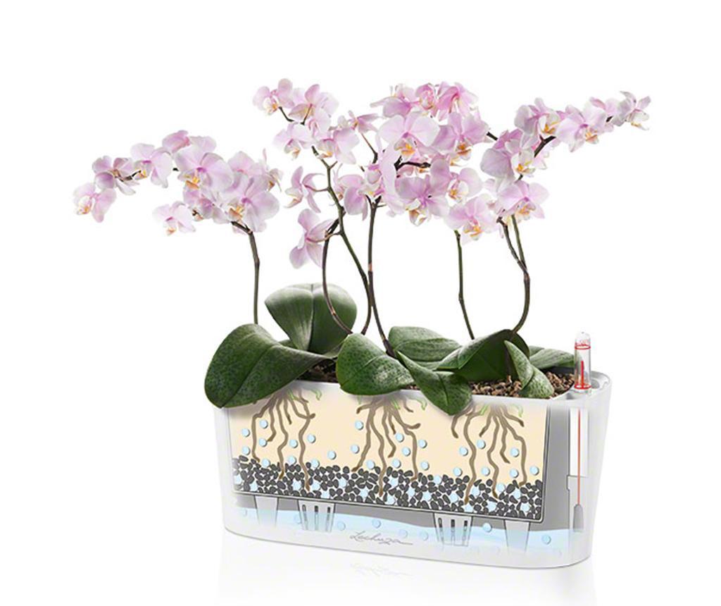 Set - cvetlični lonec z auto-namakalnim sistemom in držalo Delta Violet S
