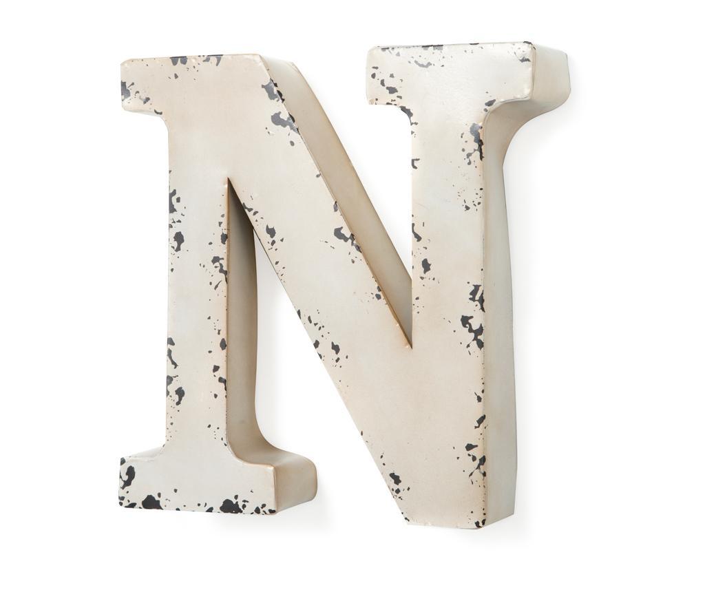 Letter N Ivory Fali dekoráció