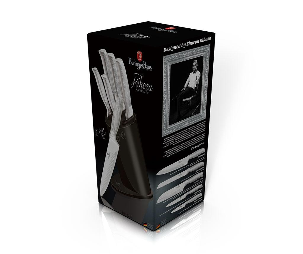 Set 6 nožev in držalo Metallic Carbon