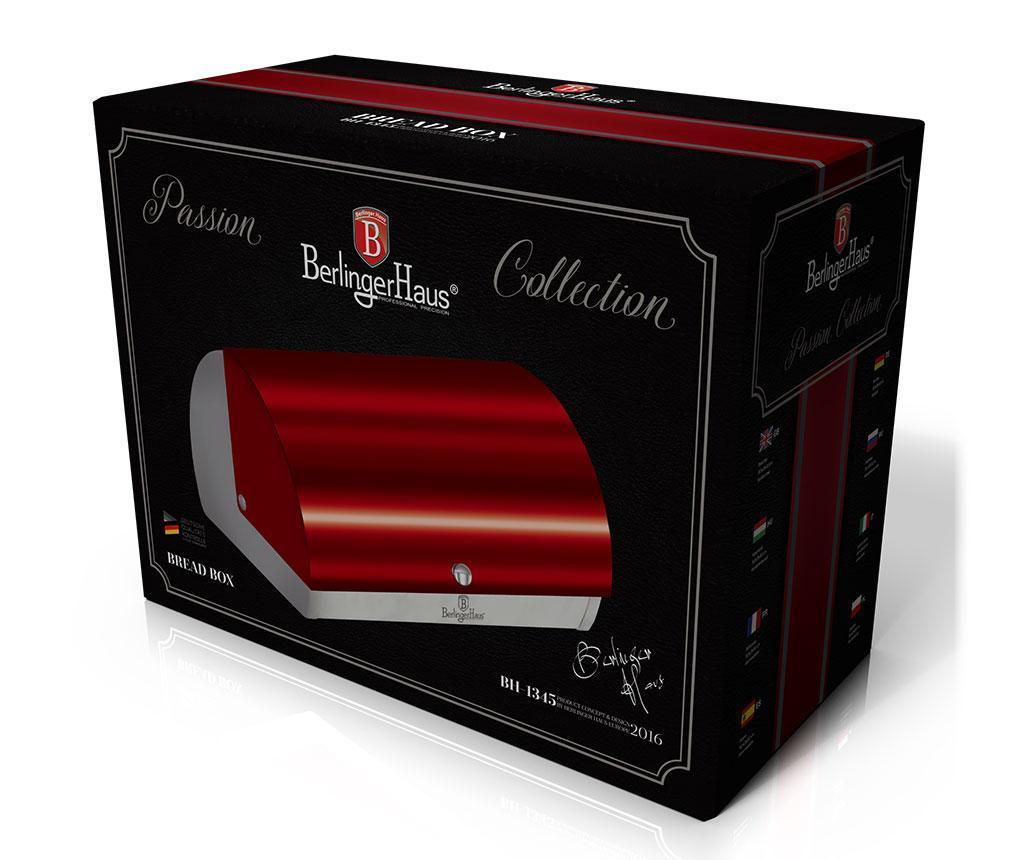 Kutija za kruh Metallic Burgundy