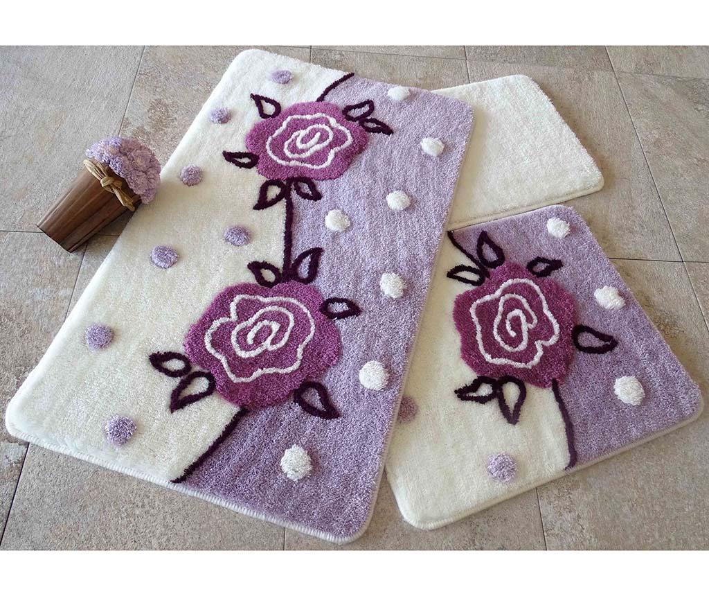 Sada 3 kúpeľňových predložiek Oriel Lilac