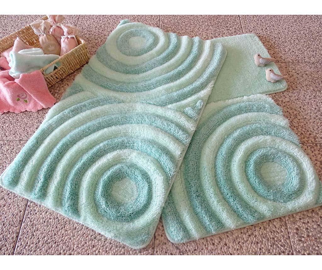 Wave Mint 3 db Fürdőszobai szőnyeg