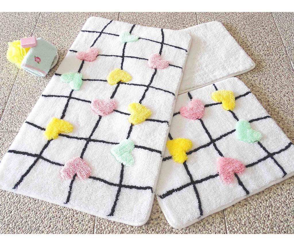 Kally Multicolor 3 db Fürdőszobai szőnyeg