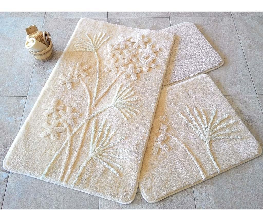 Orkide Beige 3 db Fürdőszobai szőnyeg