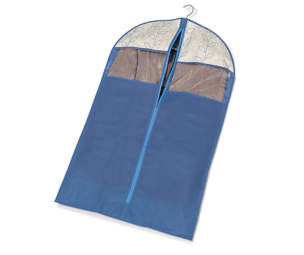 Husa pentru haine Bloom Blue 60x100 cm
