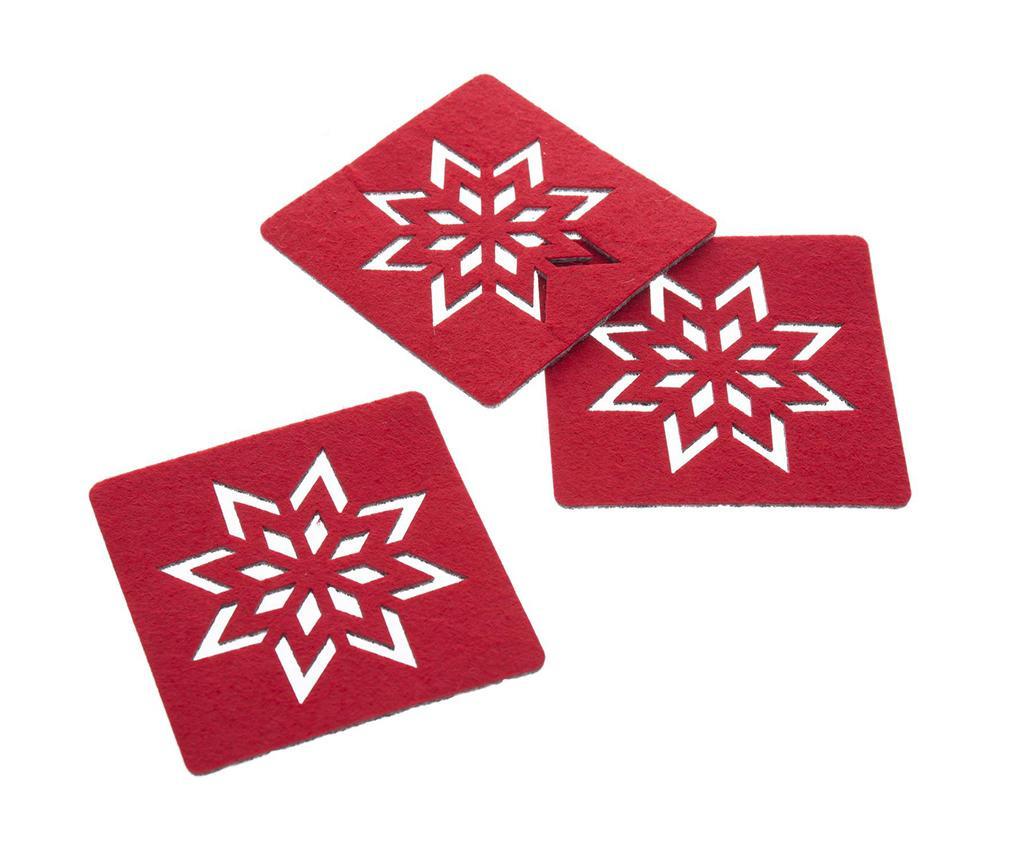 Set 4 coastere Snowflake