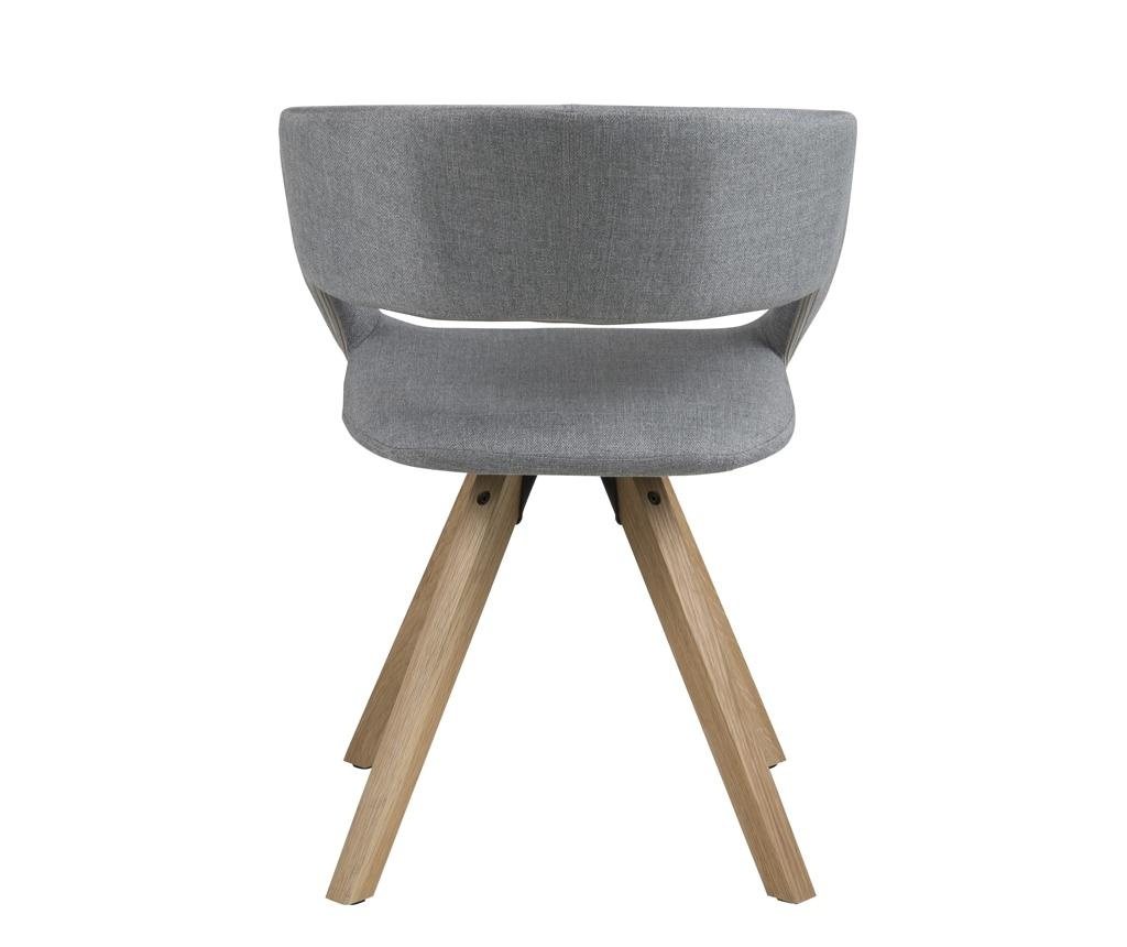 Scaun Grace Cross Light Grey