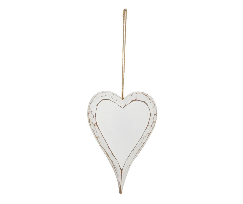Heart White Felfüggeszthető dekoráció M