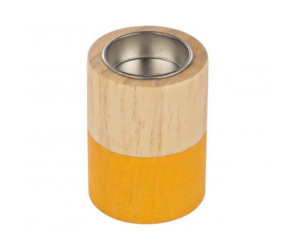 Suport pentru lumanare Cylinder Orange Small