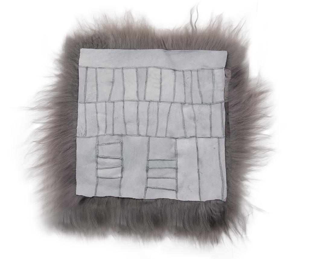 Sedežna blazina Icelandic Long Grey Patch 37x37 cm