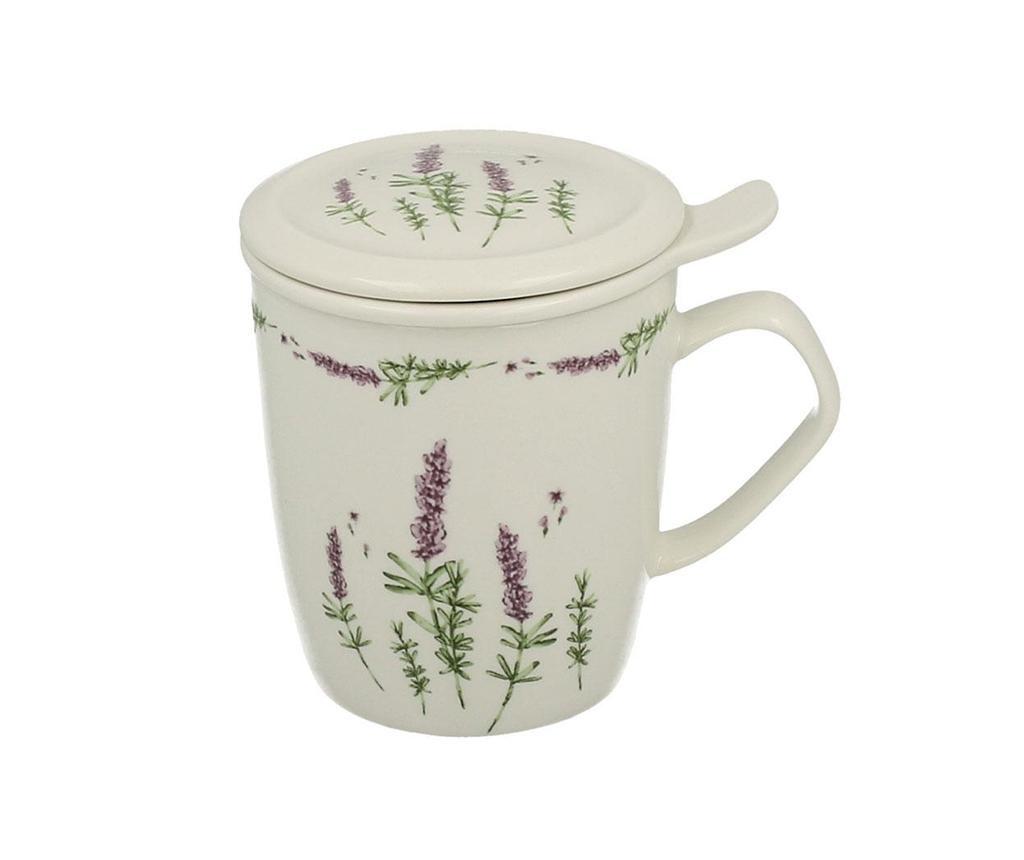 Šalica  s poklopcem i cjedilom Lavender 400 ml