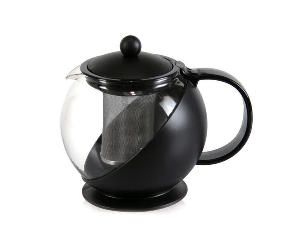 Čajnik s poklopcem i cjedilom Calliope Black 1.2 L