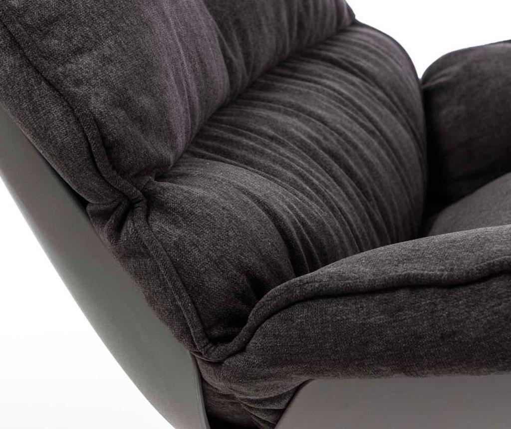 Stolica za ljuljanje Vinyl Dark Grey