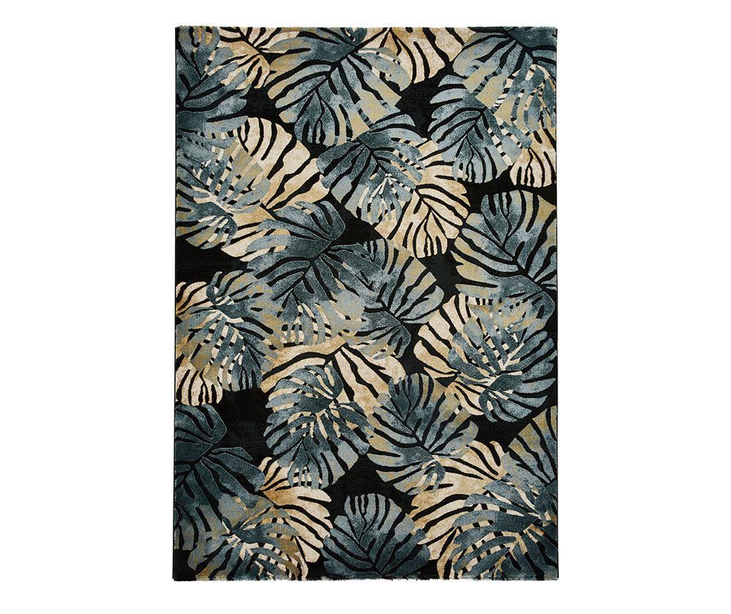 Tepih Tropics Black & Blue 120x170 cm