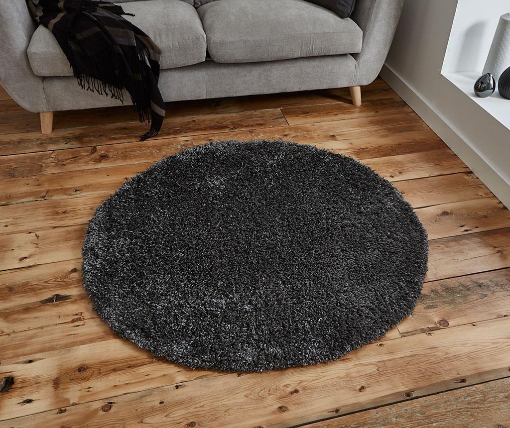 Vista Circle Dark Grey Szőnyeg 133 cm