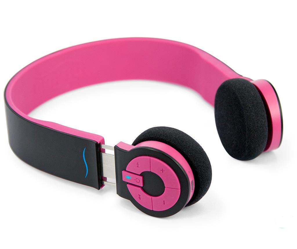 Casti fara fir hi-Edo Black Pink
