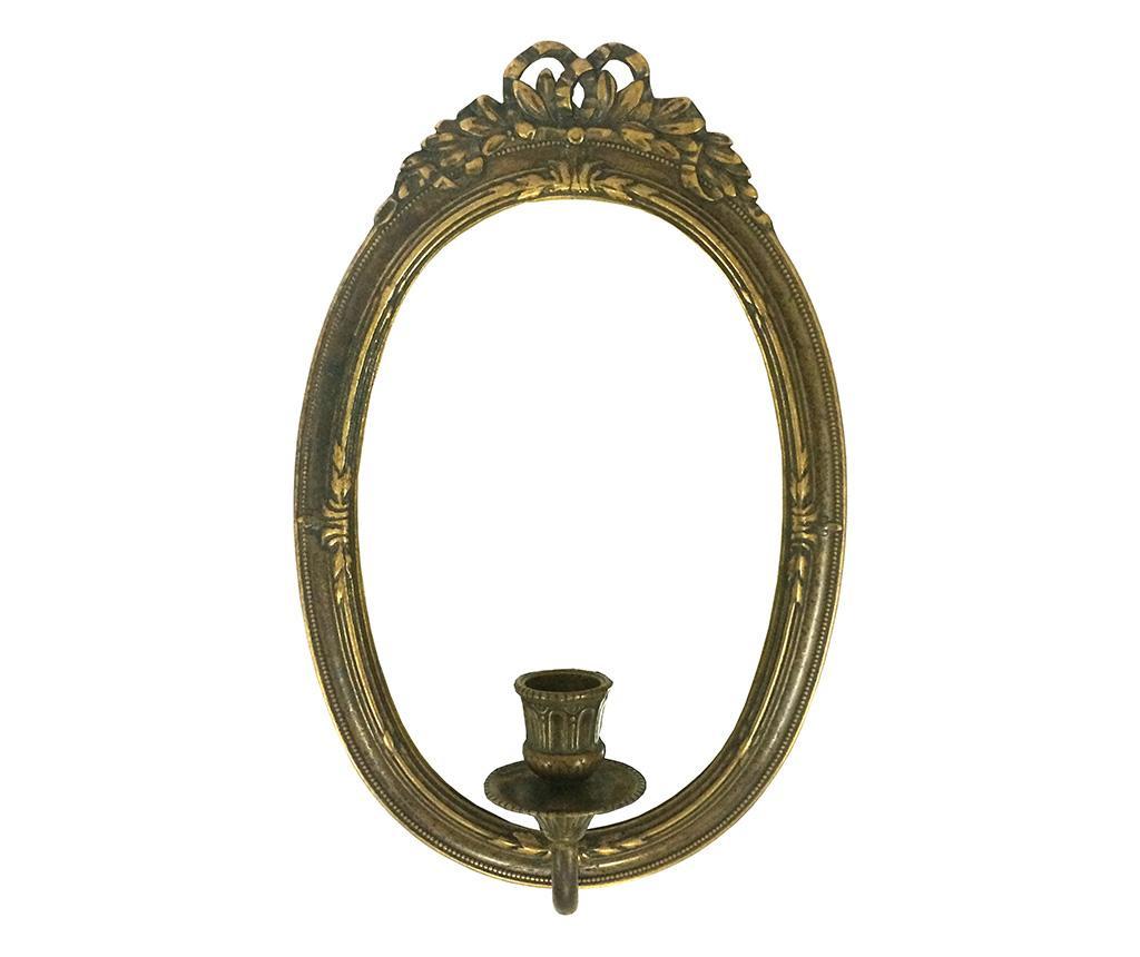 Suport de perete pentru lumanare cu oglinda Rina