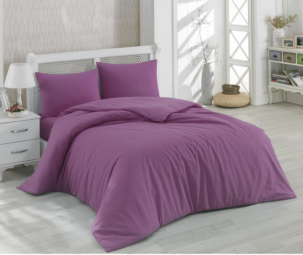 Lenjerie de pat Double Ranforce Mono Plum