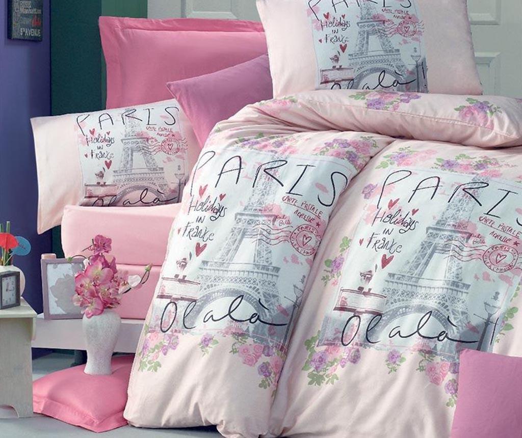 Posteljnina King Ranforce Holiday Pink