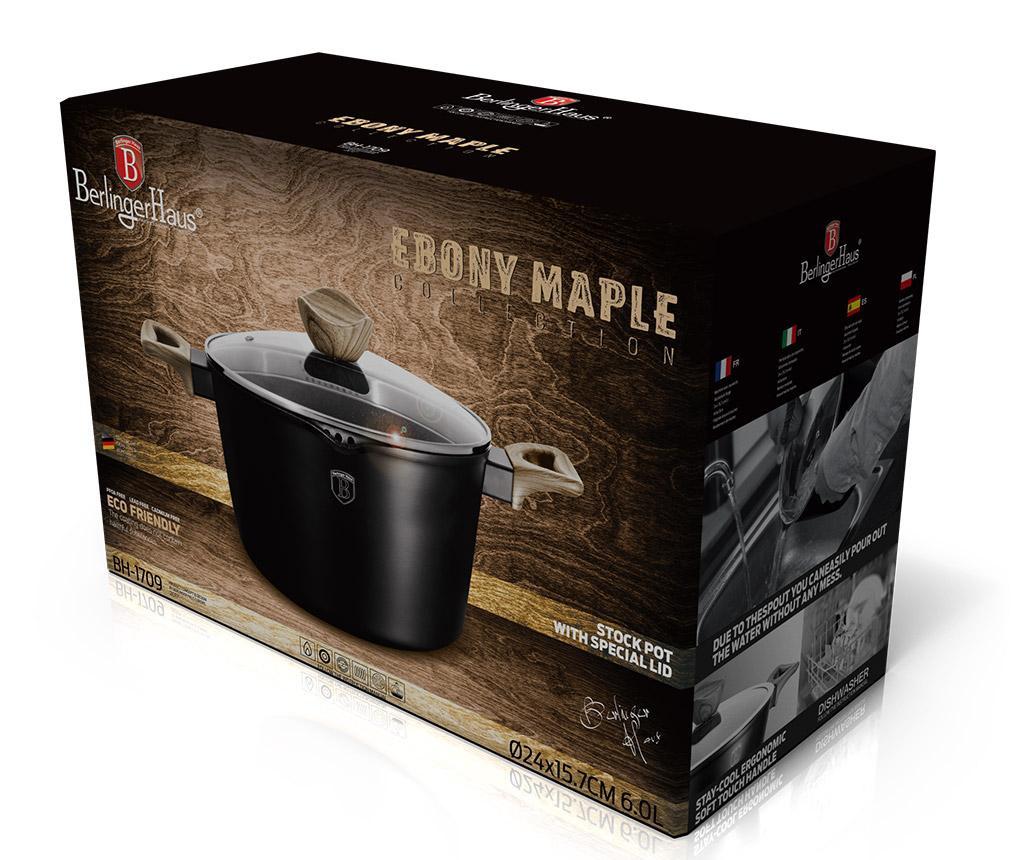 Κατσαρόλα με καπάκι Ebony Maple 6 L