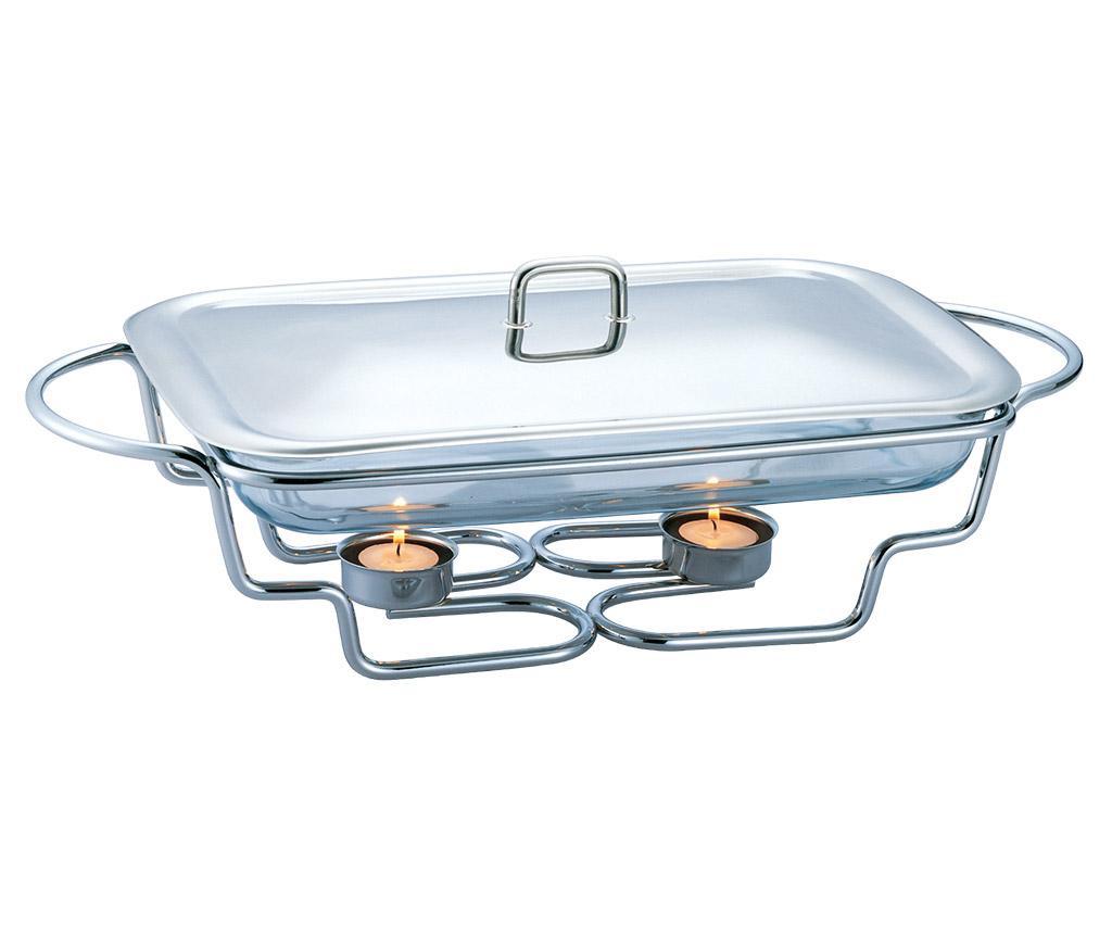 Vas cald dish Black Silver 3 L