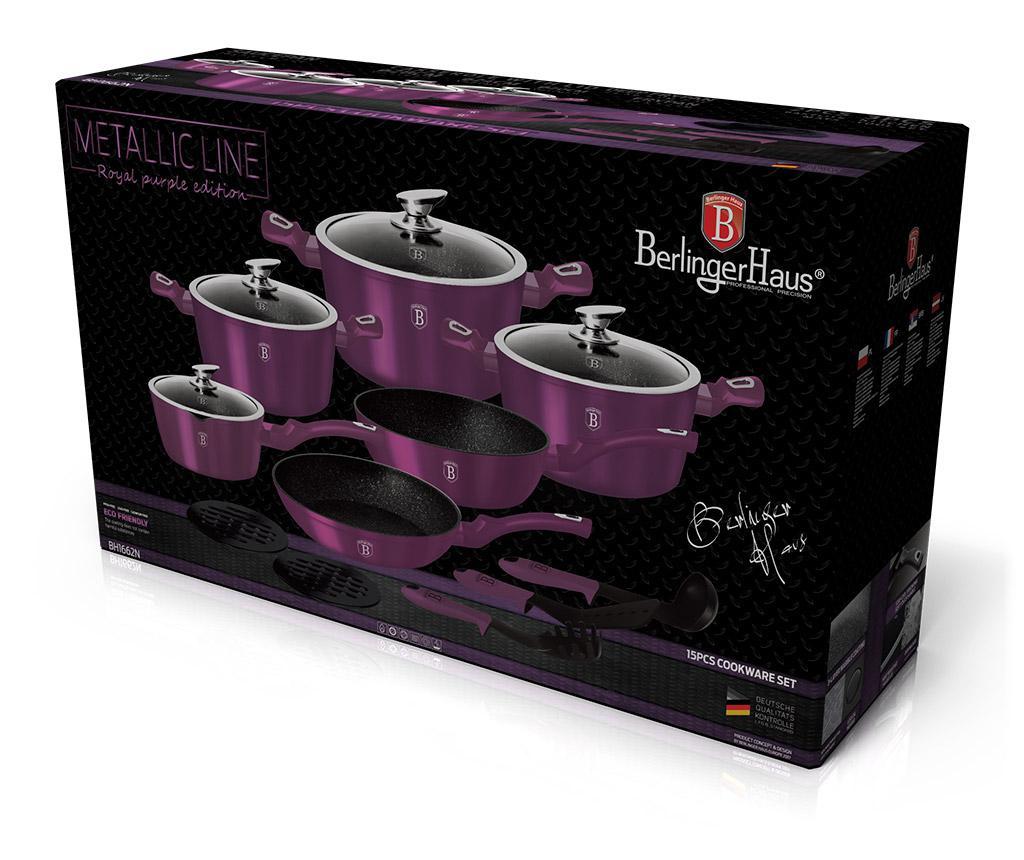 15-dijelni set posuda za kuhanje Metallic Royal Purple
