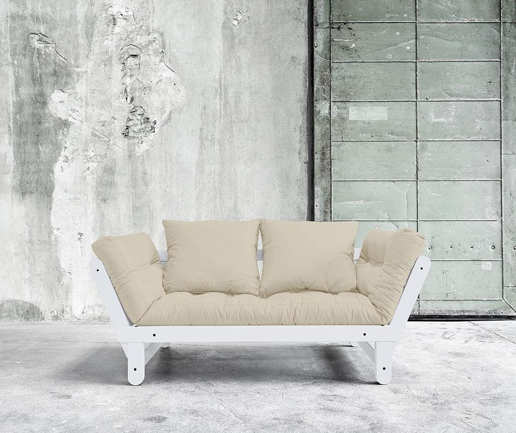 Sofa extensibila Beat White and Dove Grey