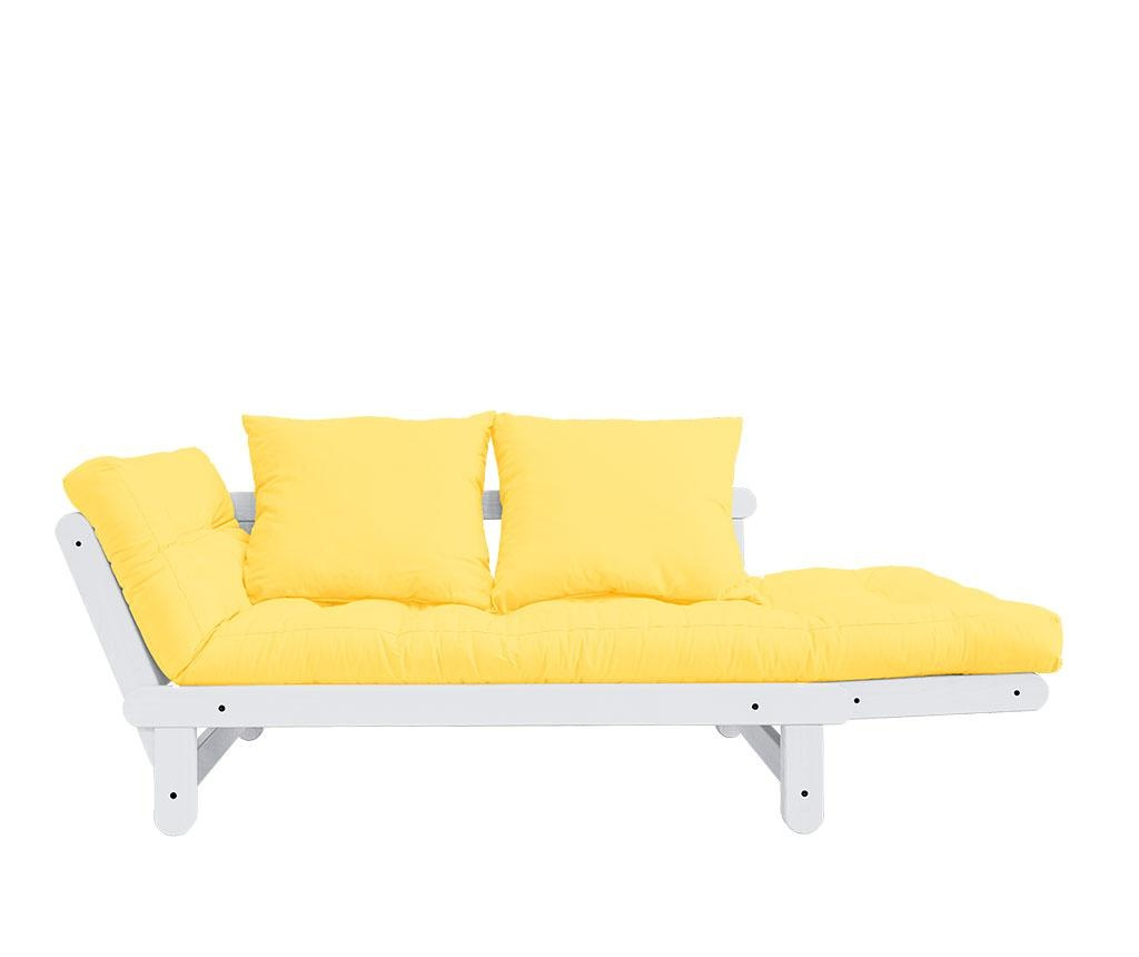 Sofa extensibila Beat White and Yellow